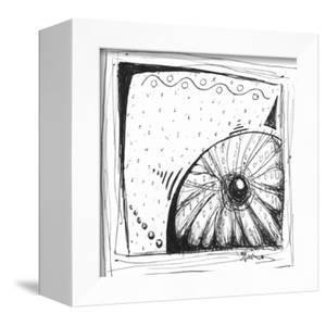 Coastal Sea Urchin Shell Beach Sketch by Megan Aroon Duncanson
