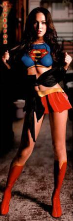 Megan Fox Superfox Supergirl/Superman Movie Door Poster Print