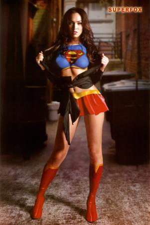 Megan Fox Superfox Supergirl/Superman Movie Poster Print