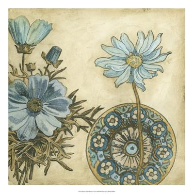 Blue and Taupe Blooms I by Megan Meagher