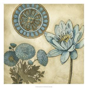 Blue and Taupe Blooms II by Megan Meagher