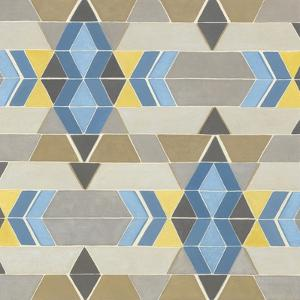 Blue and Yellow Geometry II by Megan Meagher