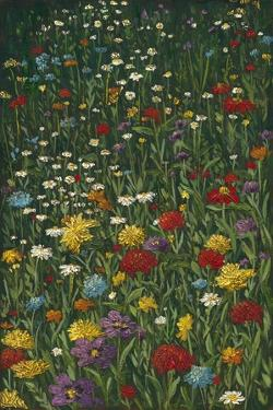 Bright Wildflower Field I by Megan Meagher