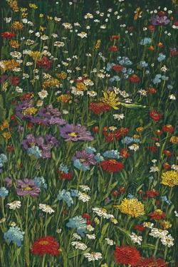 Bright Wildflower Field II by Megan Meagher
