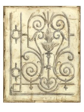 Decorative Iron Sketch III by Megan Meagher