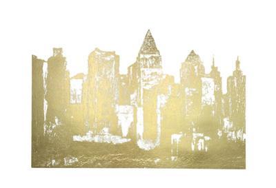Gold Foil Skyline by Megan Meagher