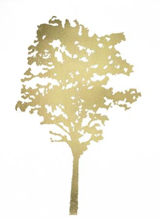 Gold Foil Tree I by Megan Meagher