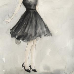 Little Black Dress I by Megan Meagher
