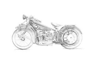 Motorcycle Sketch I by Megan Meagher