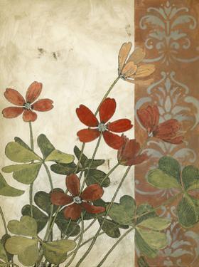 Red Antique Floral I by Megan Meagher
