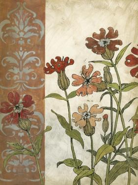 Red Antique Floral II by Megan Meagher