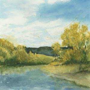 River Sketch II by Megan Meagher