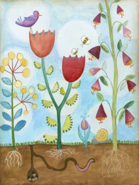 Whimsical Flower Garden I by Megan Meagher
