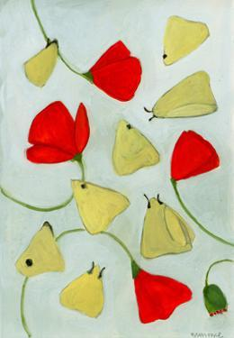 Poppies & Moths, 2015 by Megan Moore