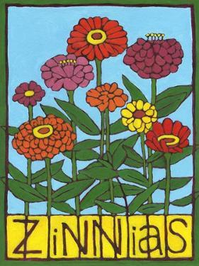 Zinnias, 2004 by Megan Moore