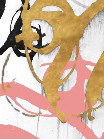 Rose Gold Strokes I by Megan Morris