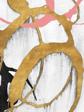 Rose Gold Strokes II by Megan Morris