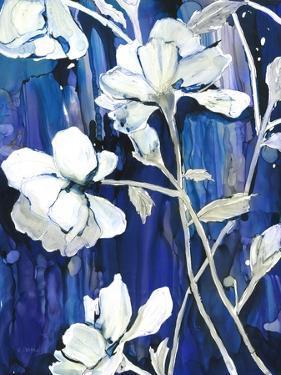 Rain Song Flowers in Royal 2 by Megan Swartz