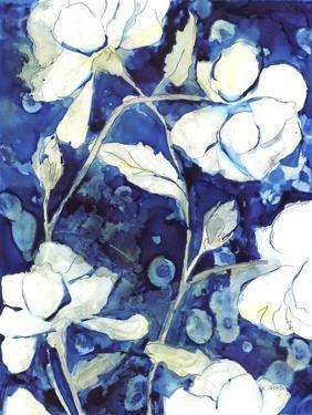 Rain Song Flowers in Royal by Megan Swartz