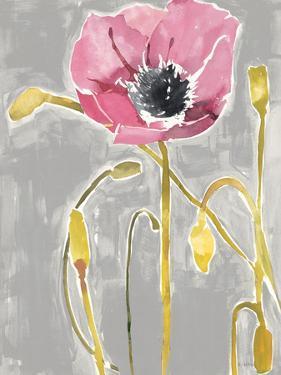Somber Poppy 3 - Gray by Megan Swartz