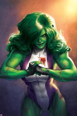 Totally Awesome Hulk No. 4 Cover Featuring She-Hulk by Meghan Hetrick