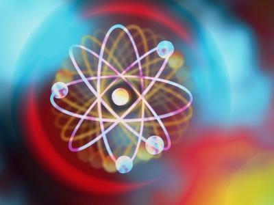Art Representing a Beryllium Atom
