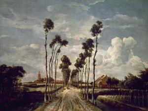 The Avenue At Middelharnis, 1689, Dutch School by Meindert Hobbema