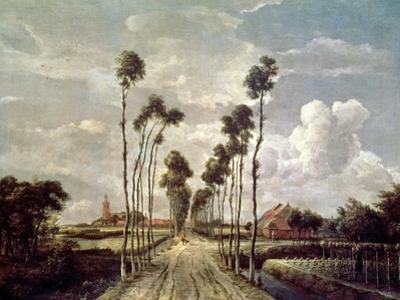 The Avenue at Middelharnis, 1689 by Meindert Hobbema