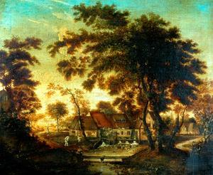 The Water Mill by Meindert Hobbema