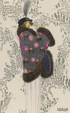 Fur-Trimmed Mantle, c.1913
