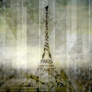 Digital-Art Paris Eiffel Tower - Geometric Mix No.1 by Melanie Viola