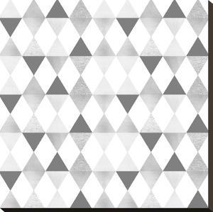 Funky Triangles Light Grey & Silver by Melanie Viola
