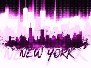 Nyc Skyline Ii Pink by Melanie Viola