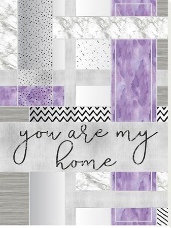 Silver You Are My Home Purple by Melanie Viola