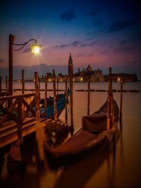 Venice Gondolas At Sunrise by Melanie Viola