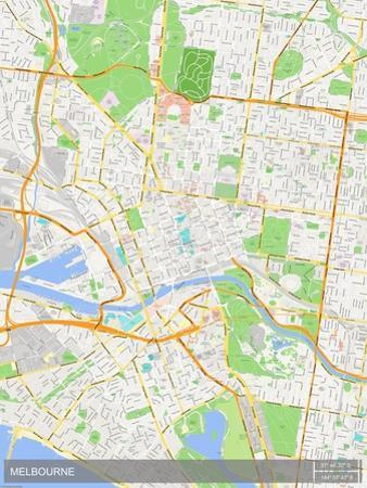 Melbourne, Australia Map