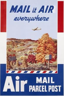 Air Mail Parcel Post Poster by Melbourne Brindle