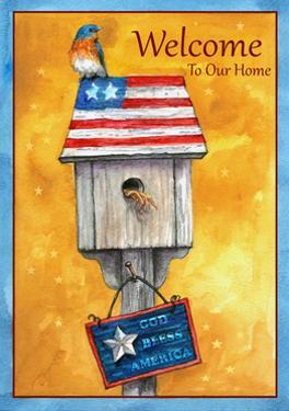 Blue Bird American Welcome by Melinda Hipsher