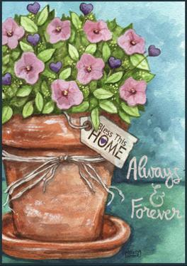 Flower Pink Bless This Home by Melinda Hipsher