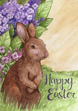 Happy Easter Bunny in Lilacs 2 by Melinda Hipsher
