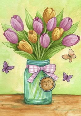 Happy Spring Tulips New by Melinda Hipsher