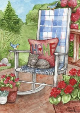 Porch Chair with Cat Home by Melinda Hipsher