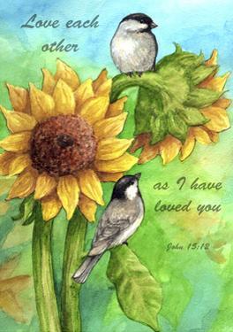 Sunflower and Chickadee by Melinda Hipsher
