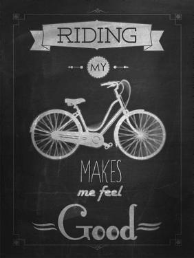 Bicycle Vintage Typographical Background by Melindula