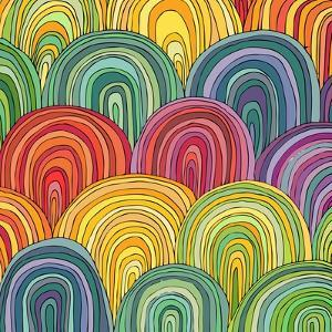 Colorful Circle Modern Abstract Design Pattern by Melindula