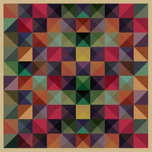 Colorful Triangles Modern Abstract Mosaic Design Pattern by Melindula