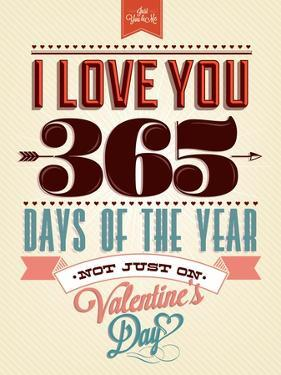 Happy Valentine's Day Hand Lettering - Typographical Background by Melindula