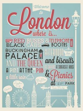London Typographical Background by Melindula
