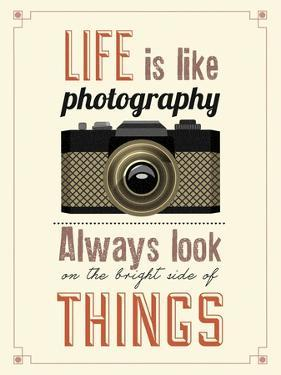 Vintage Old Camera Typographical Poster by Melindula