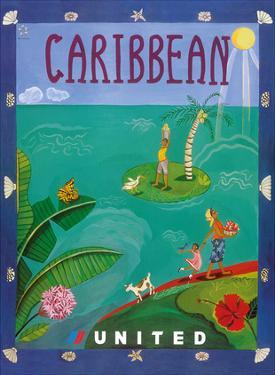 Caribbean - United Air Lines by Melisande Potter